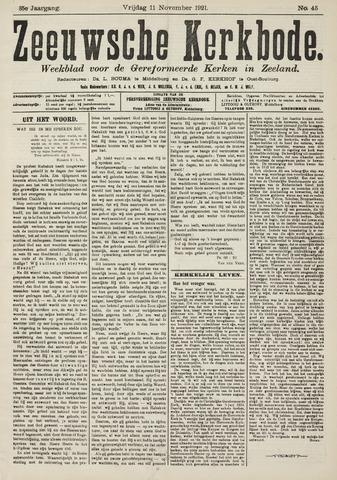 Zeeuwsche kerkbode, weekblad gewijd aan de belangen der gereformeerde kerken/ Zeeuwsch kerkblad 1921-11-11