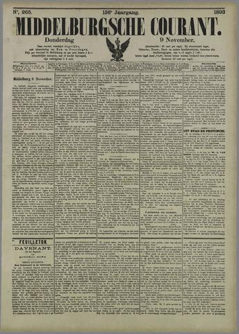 Middelburgsche Courant 1893-11-09