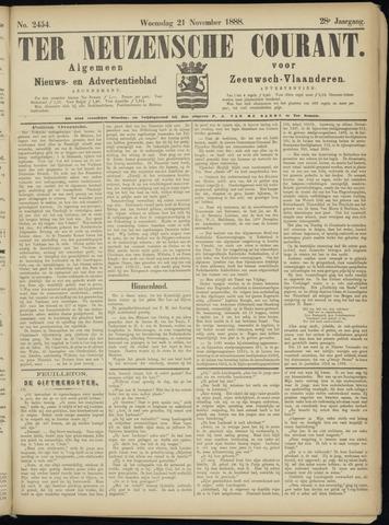 Ter Neuzensche Courant. Algemeen Nieuws- en Advertentieblad voor Zeeuwsch-Vlaanderen / Neuzensche Courant ... (idem) / (Algemeen) nieuws en advertentieblad voor Zeeuwsch-Vlaanderen 1888-11-21