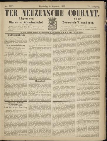 Ter Neuzensche Courant. Algemeen Nieuws- en Advertentieblad voor Zeeuwsch-Vlaanderen / Neuzensche Courant ... (idem) / (Algemeen) nieuws en advertentieblad voor Zeeuwsch-Vlaanderen 1883-08-08