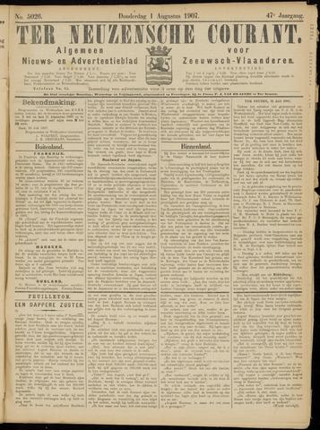 Ter Neuzensche Courant. Algemeen Nieuws- en Advertentieblad voor Zeeuwsch-Vlaanderen / Neuzensche Courant ... (idem) / (Algemeen) nieuws en advertentieblad voor Zeeuwsch-Vlaanderen 1907-08-01