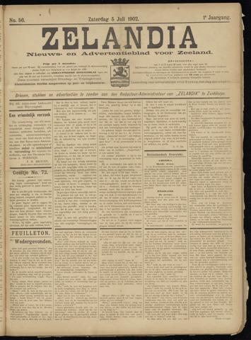Zelandia. Nieuws-en advertentieblad voor Zeeland | edities: Het Land van Hulst en De Vier Ambachten 1902-07-05