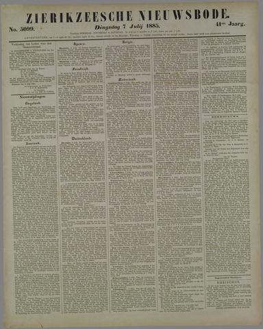 Zierikzeesche Nieuwsbode 1885-07-07