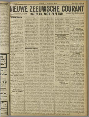 Nieuwe Zeeuwsche Courant 1920-11-23