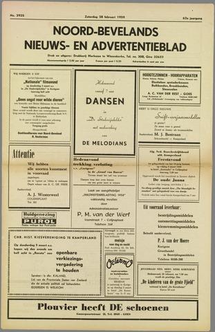 Noord-Bevelands Nieuws- en advertentieblad 1959-02-28