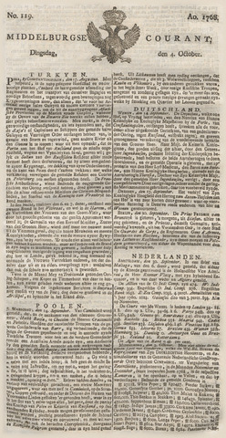 Middelburgsche Courant 1768-10-04