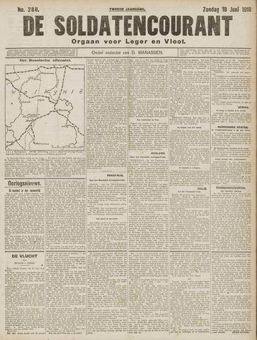 De Soldatencourant. Orgaan voor Leger en Vloot 1916-06-18