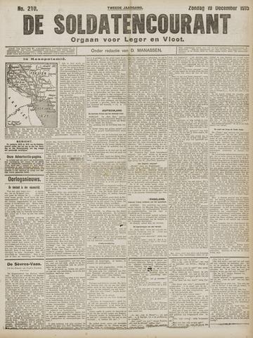 De Soldatencourant. Orgaan voor Leger en Vloot 1915-12-19