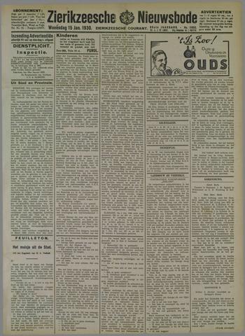 Zierikzeesche Nieuwsbode 1930-01-15