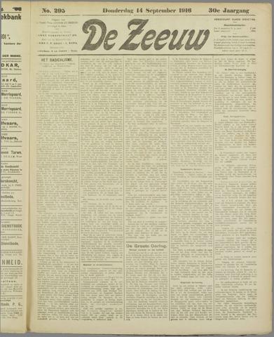 De Zeeuw. Christelijk-historisch nieuwsblad voor Zeeland 1916-09-14