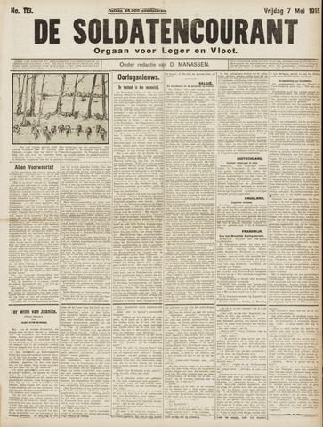 De Soldatencourant. Orgaan voor Leger en Vloot 1915-05-07