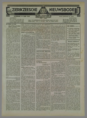 Zierikzeesche Nieuwsbode 1941-06-06
