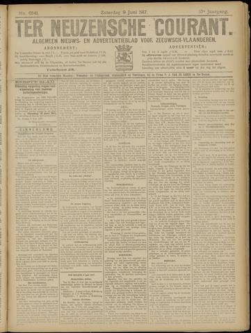Ter Neuzensche Courant. Algemeen Nieuws- en Advertentieblad voor Zeeuwsch-Vlaanderen / Neuzensche Courant ... (idem) / (Algemeen) nieuws en advertentieblad voor Zeeuwsch-Vlaanderen 1917-06-09