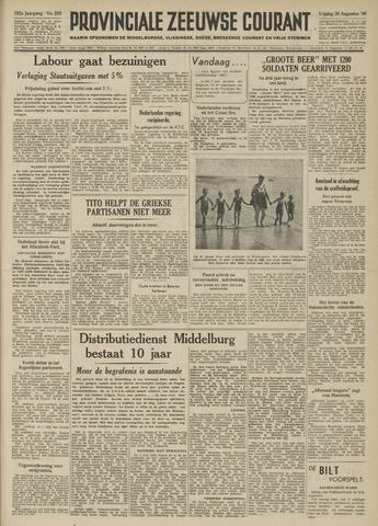 Provinciale Zeeuwse Courant 1949-08-26