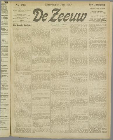 De Zeeuw. Christelijk-historisch nieuwsblad voor Zeeland 1917-06-02