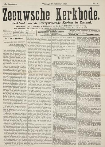 Zeeuwsche kerkbode, weekblad gewijd aan de belangen der gereformeerde kerken/ Zeeuwsch kerkblad 1923-02-23
