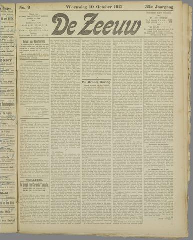De Zeeuw. Christelijk-historisch nieuwsblad voor Zeeland 1917-10-10