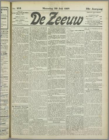 De Zeeuw. Christelijk-historisch nieuwsblad voor Zeeland 1918-07-29