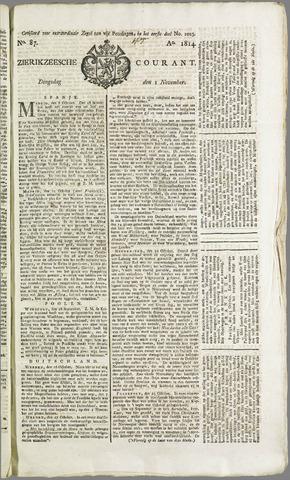 Zierikzeesche Courant 1814-11-02
