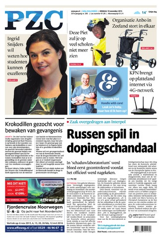 Provinciale Zeeuwse Courant 2015-11-10