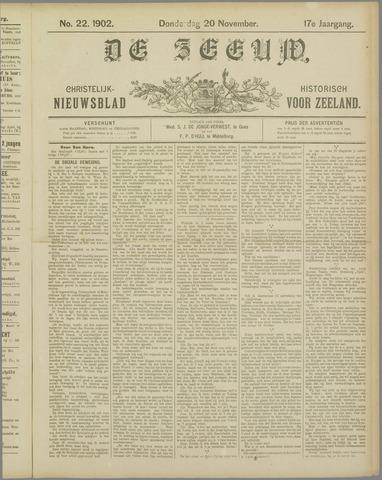 De Zeeuw. Christelijk-historisch nieuwsblad voor Zeeland 1902-11-20