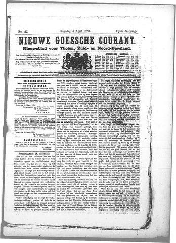 Nieuwe Goessche Courant 1870-04-05