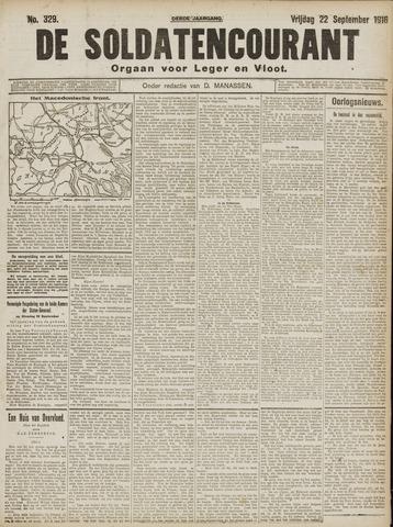 De Soldatencourant. Orgaan voor Leger en Vloot 1916-09-22