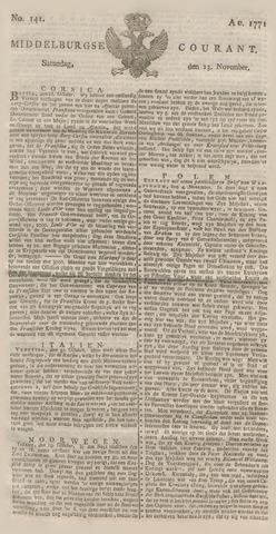 Middelburgsche Courant 1771-11-23