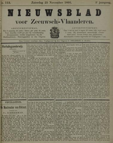 Nieuwsblad voor Zeeuwsch-Vlaanderen 1893-11-25