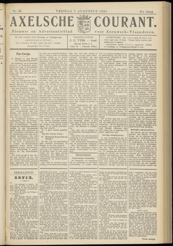 Axelsche Courant 1931-08-07
