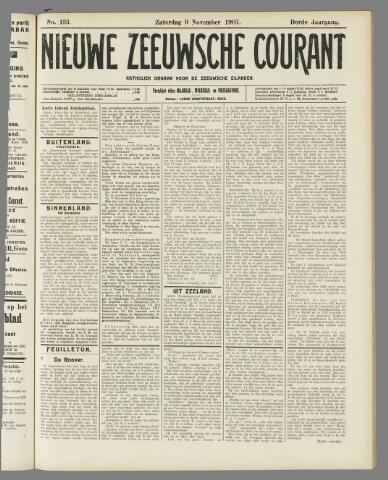 Nieuwe Zeeuwsche Courant 1907-11-09