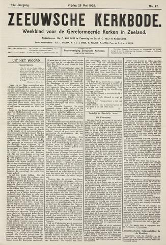 Zeeuwsche kerkbode, weekblad gewijd aan de belangen der gereformeerde kerken/ Zeeuwsch kerkblad 1925-05-29