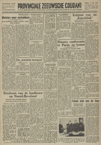 Provinciale Zeeuwse Courant 1947-07-04