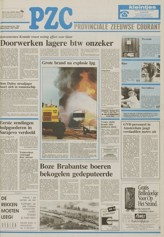 Provinciale Zeeuwse Courant 1992-07-01