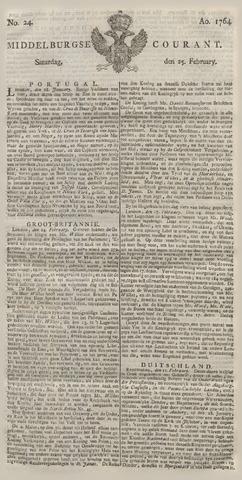 Middelburgsche Courant 1764-02-25