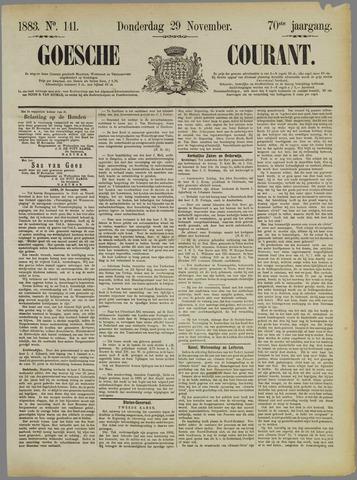 Goessche Courant 1883-11-29