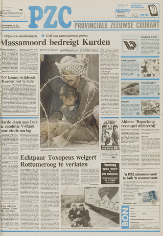 Provinciale Zeeuwse Courant 1991-04-04