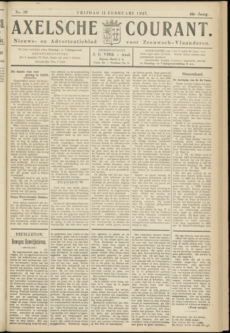 Axelsche Courant 1927-02-11