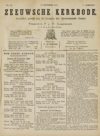 Zeeuwsche kerkbode, weekblad gewijd aan de belangen der gereformeerde kerken/ Zeeuwsch kerkblad 1890-09-27