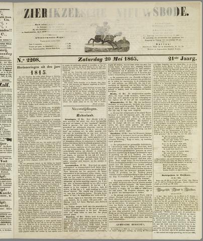Zierikzeesche Nieuwsbode 1865-05-20