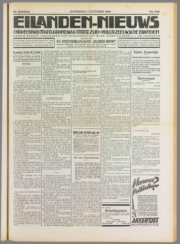 Eilanden-nieuws. Christelijk streekblad op gereformeerde grondslag 1939-10-07
