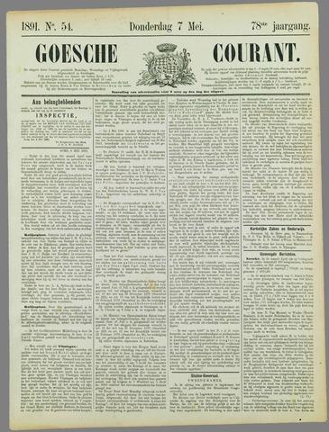 Goessche Courant 1891-05-07