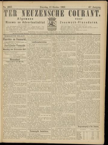 Ter Neuzensche Courant. Algemeen Nieuws- en Advertentieblad voor Zeeuwsch-Vlaanderen / Neuzensche Courant ... (idem) / (Algemeen) nieuws en advertentieblad voor Zeeuwsch-Vlaanderen 1907-10-12