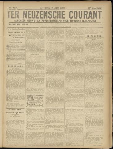 Ter Neuzensche Courant. Algemeen Nieuws- en Advertentieblad voor Zeeuwsch-Vlaanderen / Neuzensche Courant ... (idem) / (Algemeen) nieuws en advertentieblad voor Zeeuwsch-Vlaanderen 1928-04-18