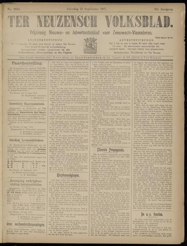 Ter Neuzensch Volksblad. Vrijzinnig nieuws- en advertentieblad voor Zeeuwsch- Vlaanderen / Zeeuwsch Nieuwsblad. Nieuws- en advertentieblad voor Zeeland 1917-09-15