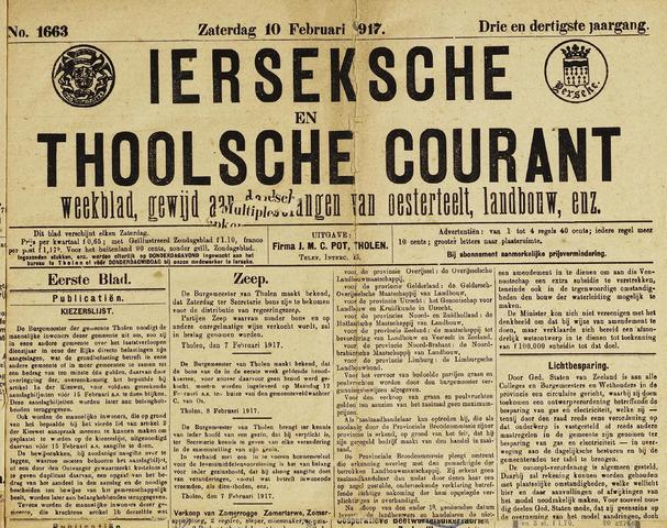 Ierseksche en Thoolsche Courant 1917-02-10