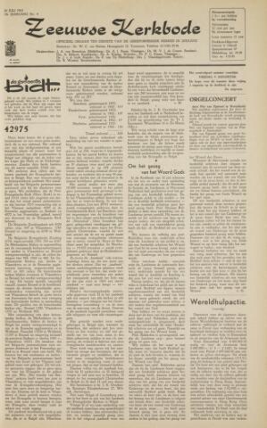 Zeeuwsche kerkbode, weekblad gewijd aan de belangen der gereformeerde kerken/ Zeeuwsch kerkblad 1963-07-26