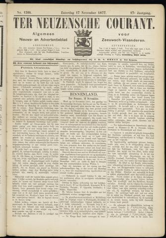 Ter Neuzensche Courant. Algemeen Nieuws- en Advertentieblad voor Zeeuwsch-Vlaanderen / Neuzensche Courant ... (idem) / (Algemeen) nieuws en advertentieblad voor Zeeuwsch-Vlaanderen 1877-11-17