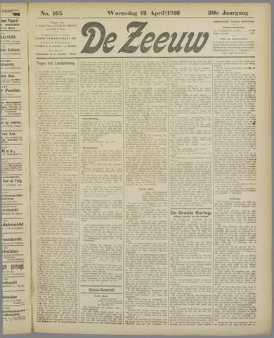 De Zeeuw. Christelijk-historisch nieuwsblad voor Zeeland 1916-04-12