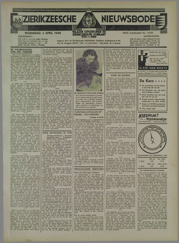 Zierikzeesche Nieuwsbode 1940-04-03